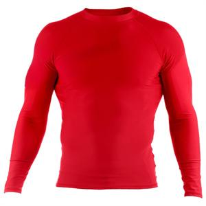 Clinch Gear Basic Red Rashguard - Long Sleeve
